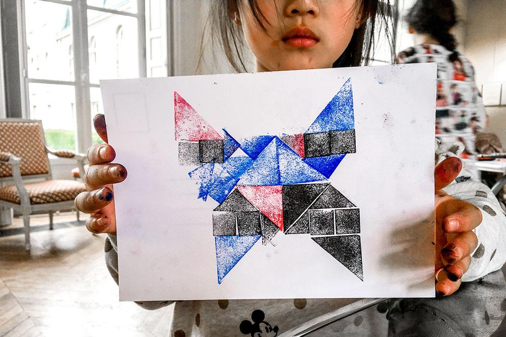 Atelier on s'en tamponne - tangram - tampon