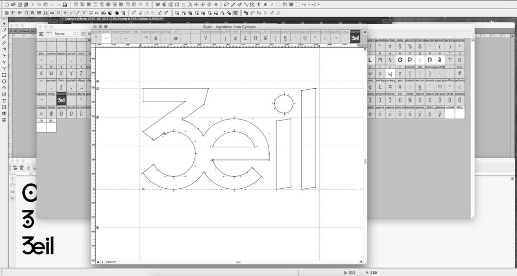 Typographie Cyclope
