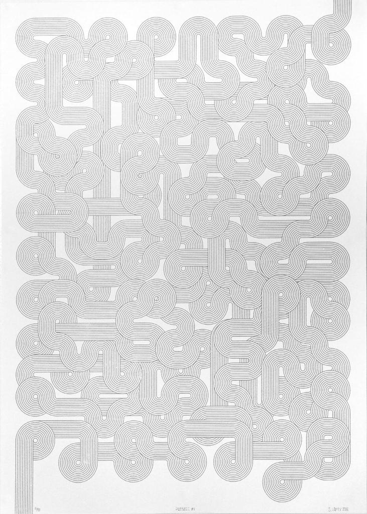 Affiche sérigraphie - Passage Blanc