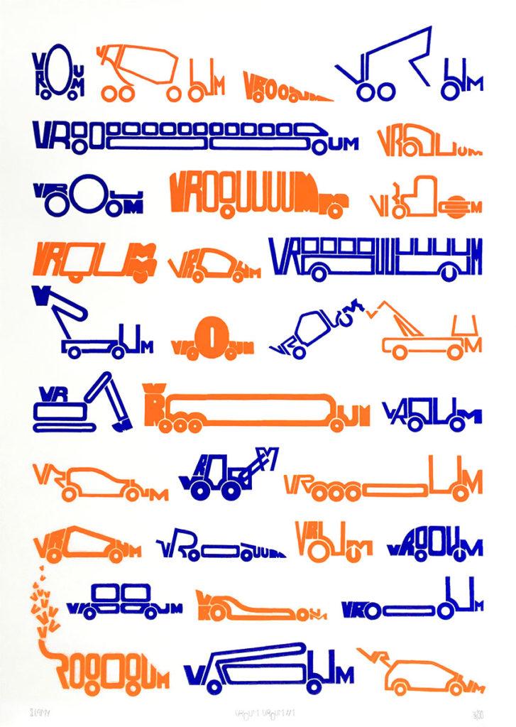 Affiche sérigraphie - VROUM