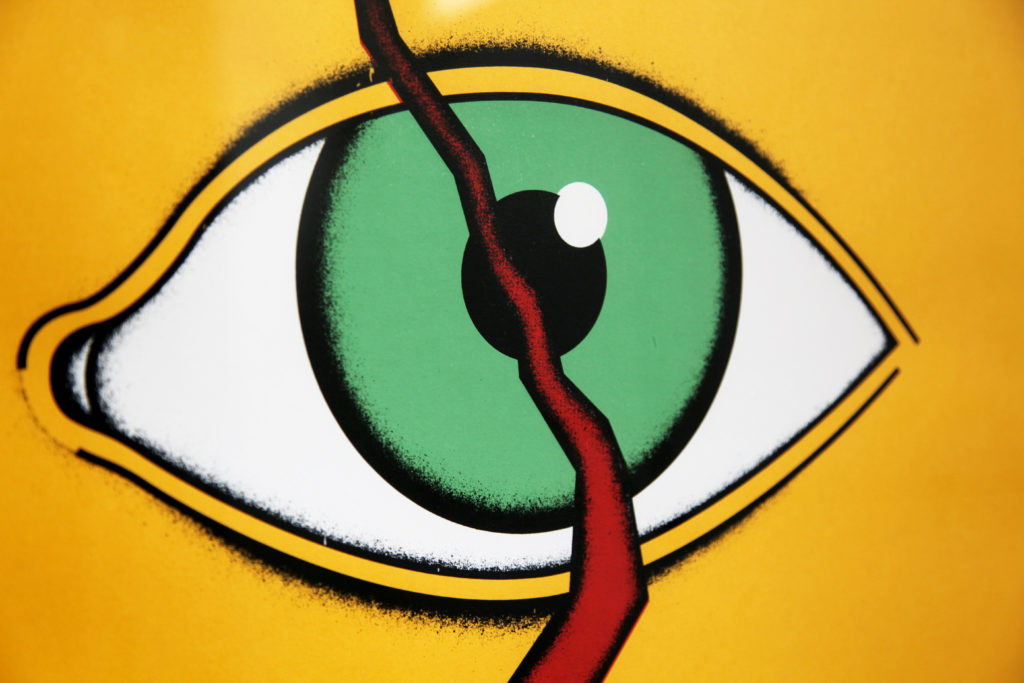Affiche sérigraphie - l'œil Andalou