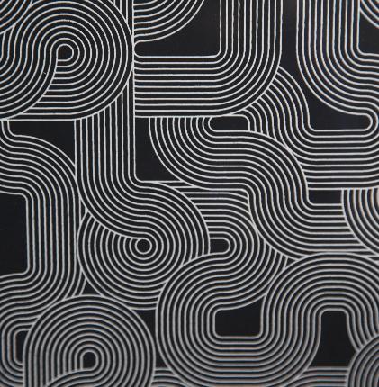 Affiche sérigraphie - Passage Noir